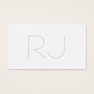 Professional modern plain business card