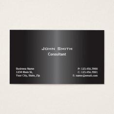 Professional Modern Plain Computer Repair Black Business Card at Zazzle