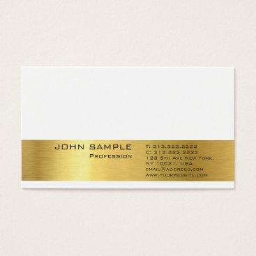 Lawyer Themed Professional Modern Plain Elegant Gold Look Business Card
