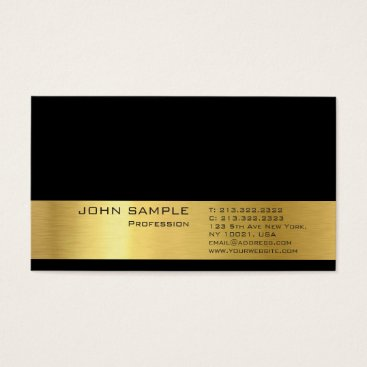 Lawyer Themed Professional Modern Plain Elegant Gold Look Deluxe Business Card