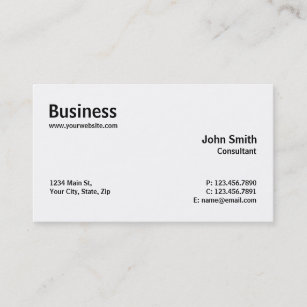 professional modern plain simple computer repair business card - Simple Business Cards