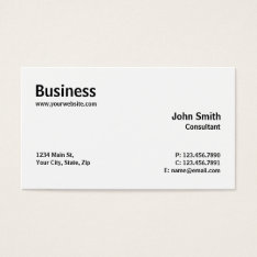 Professional Modern Plain Simple Computer Repair Business Card at Zazzle