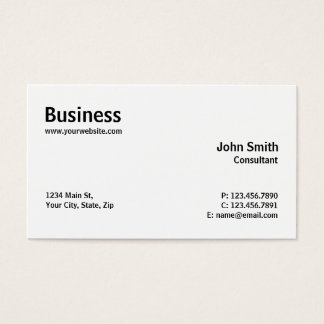 Simple Business Cards Templates Zazzle