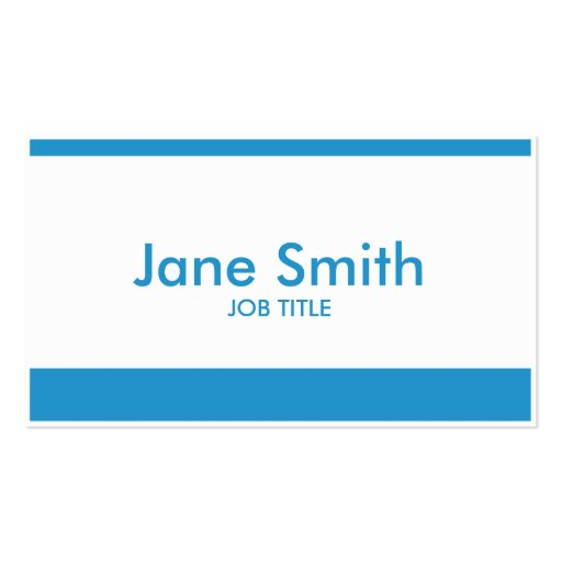 Professional Modern Plain Simple Stylish Classy Double-Sided Standard Business Cards (Pack Of 100)