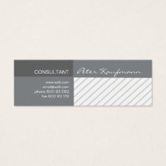 Professional Modern Promotional Geometric  Striped Mini Business Card at Zazzle