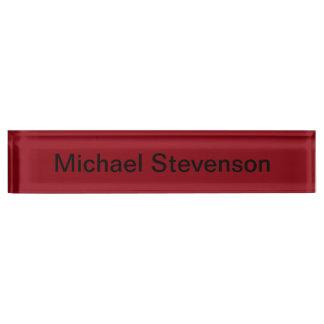 Professional Modern Red Business Desk Nameplate