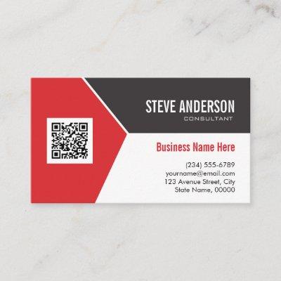 QR Code Follow Me Business Card Template | Zazzle com