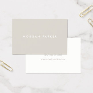 Professional Modern Simple Beige Business Card