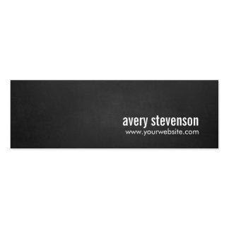 Professional Modern Simple Black Chalkboard Mini Business Card