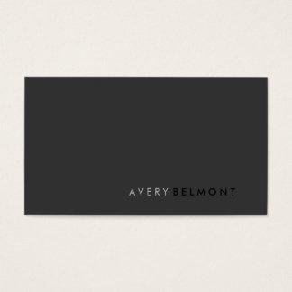 Professional Modern Simple Black Minimalist Business Card