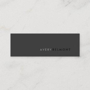Minimalist business cards zazzle professional modern simple black minimalist mini business card colourmoves