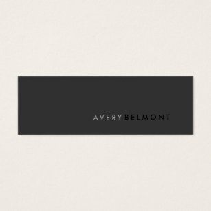 Networking business cards templates zazzle professional modern simple black minimalist mini business card fbccfo Choice Image