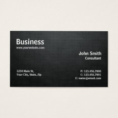 Professional Modern Simple Computer Repair Black Business Card at Zazzle