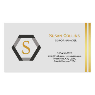 Professional Modern Simple Plain Logo Hexagon Double-Sided Standard Business Cards (Pack Of 100)