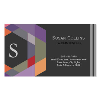 Professional Modern Simple Plain Logo Monogram Double-Sided Standard Business Cards (Pack Of 100)
