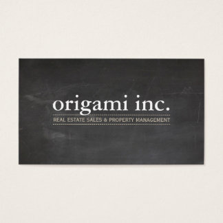 PROFESSIONAL modern simple rustic chalkboard look Business Card