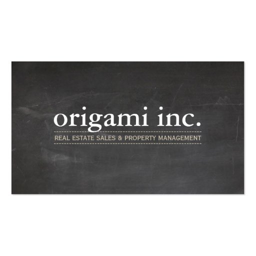 PROFESSIONAL modern simple rustic chalkboard look Business Cards
