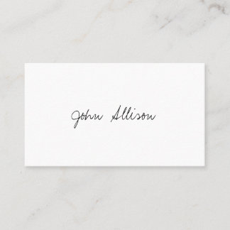 Professional Modern Simple White Minimalist Business Card