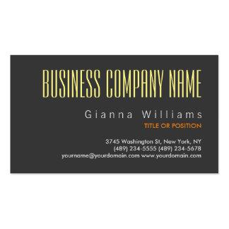 Professional Modern Stylish Trendy Grey Business Card