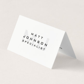 Professional Modern White Folded Business Card