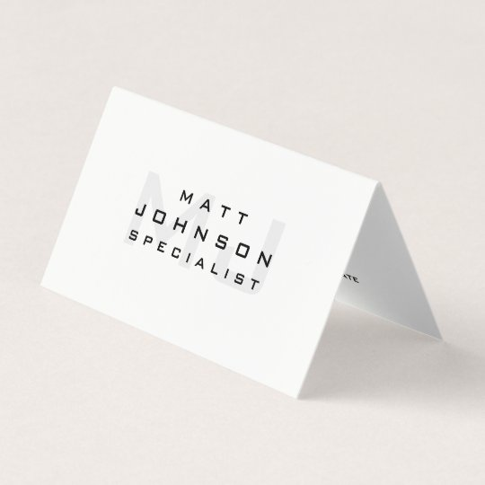 Professional modern white folded business card zazzle professional modern white folded business card reheart Images
