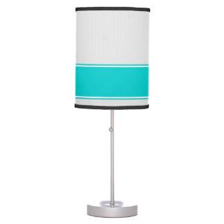 Professional Modern White Pinstripes Teal Desk Lam Desk Lamp
