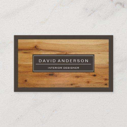 Professional Modern Wood Grain Look Business Card