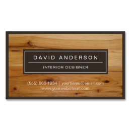 Flooring business cards templates zazzle professional modern wood grain look magnetic business card colourmoves