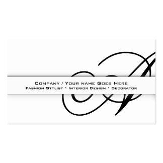 "Professional monogram ""A"" business CUSTOM Business Card"