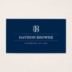 Lawyer business cards templates zazzle professional monogram attorney lawyer blue business card flashek Gallery