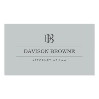 Professional Monogram Attorney, Lawyer Slate Double-Sided Standard Business Cards (Pack Of 100)