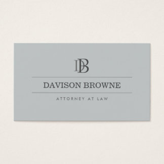 Professional Monogram Attorney Lawyer Slate Business Card