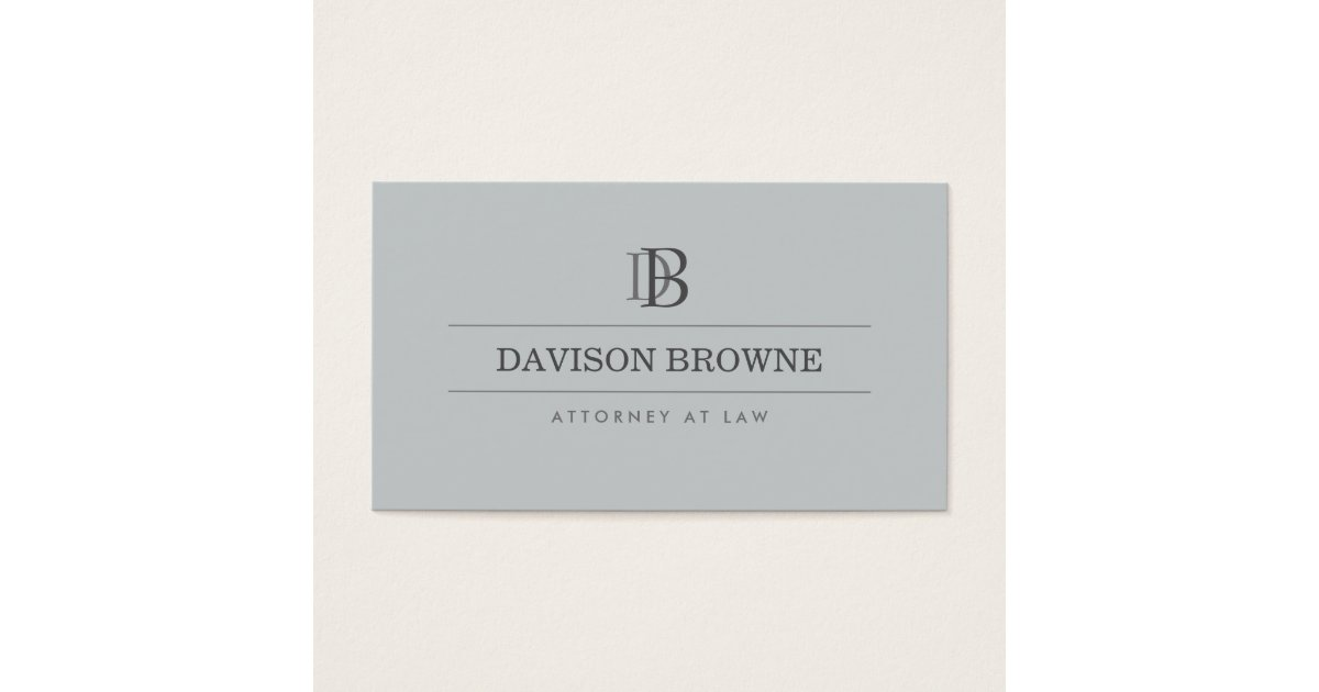 Professional Monogram Attorney, Lawyer Slate Business Card ...