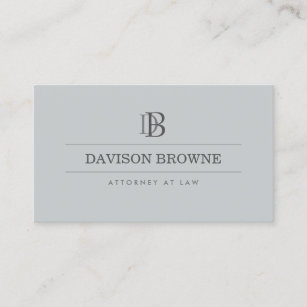 Lawyer business cards zazzle professional monogram attorney lawyer slate business card colourmoves