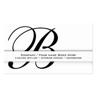 "Professional monogram ""B"" business CUSTOM Business Card Templates"