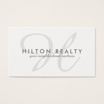 Professional Business Professional Monogram  Business Card Template