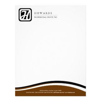 Professional Monogram Business Letterhead