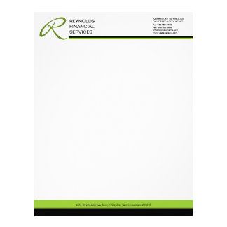 Professional Monogram Business Letterhead