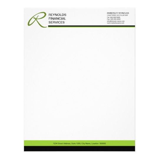 Business Letterhead: Professional Monogram Business Letterhead