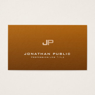 Professional Monogram Clean Plain Elegant Modern Business Card
