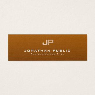 Professional Monogram Clean Plain Elegant Modern Mini Business Card