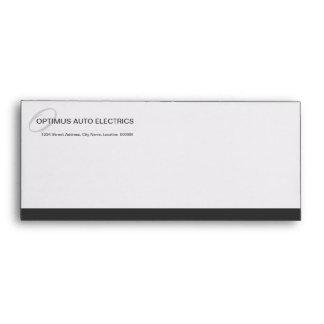 Professional Monogram Gray Business Envelope