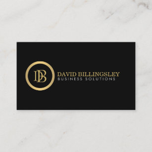Legal business cards 1900 legal business card templates professional monogram logo in faux gold ii business card reheart Gallery