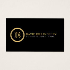 Professional Monogram Logo In Faux Gold Ii Business Card at Zazzle