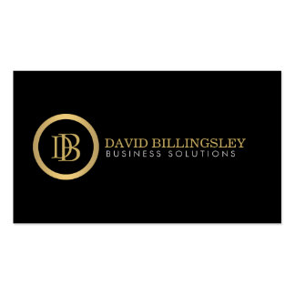 Professional Monogram Logo in Faux Gold II Double-Sided Standard Business Cards (Pack Of 100)