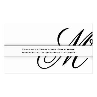 "Professional monogram ""M"" business CUSTOM Business Card Template"