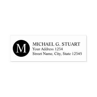 Professional Business Professional Monogram Return Address Self-inking Stamp