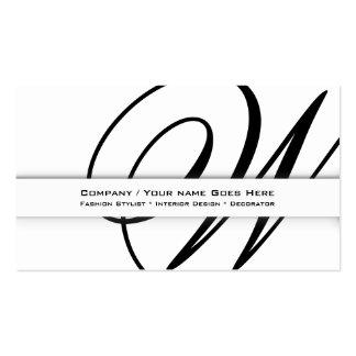 "Professional monogram ""W"" business CUSTOM Business Card Template"