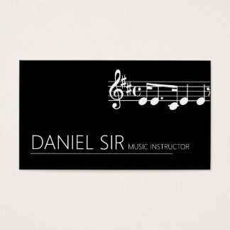 Professional Music Instructor Business Card