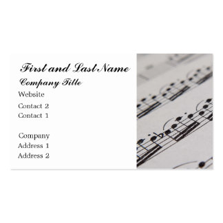 Professional Musician Business Card Templates